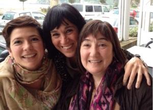 Amaia Nieva, Ana Garbizu y Mariángeles Álvarez